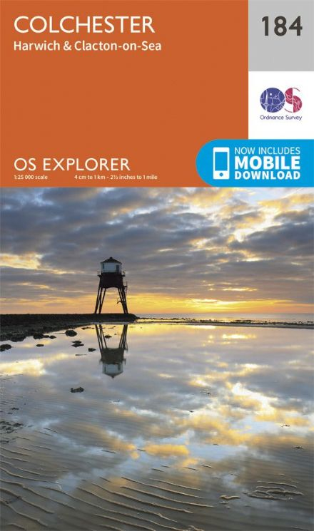 OS Explorer 184 - Colchester, Harwich & Clacton on Sea